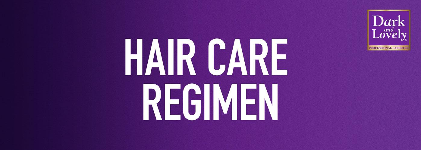 Hair Care Regimen Banner